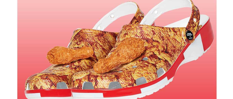 сабо с жареной курицей