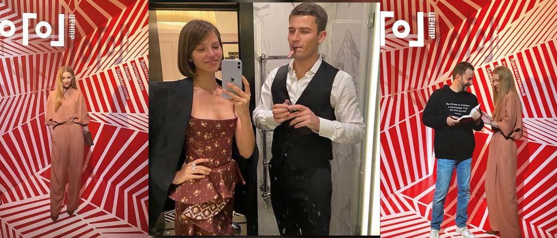 Ходченкова в мешковатом костюме