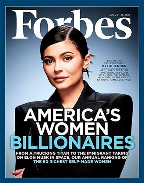 Кайли Дженнер опередила Канье Уэста в списке самых высокооплачиваемых знаменитостей Forbes на 2020 год