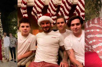 Виктория Бекхэм поделилась веселыми кадрами с рождественской фотосессии с детьми